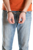 Handcuffed man Stock Photography