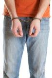 Handcuffed man Stock Photography
