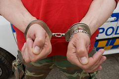 Handcuffed man Stock Photos