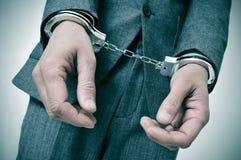Handcuffed man Stock Photo