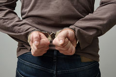 Handcuffed man. Stock Images