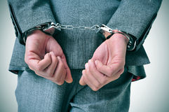 Handcuffed man Royalty Free Stock Image
