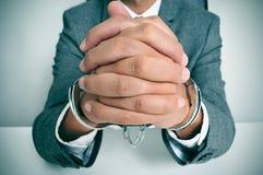 Handcuffed man Royalty Free Stock Photography