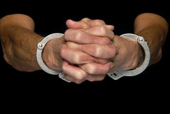 Handcuffed person Royalty Free Stock Photography