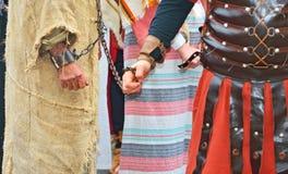 Handcuffed  prisoner Stock Photography