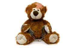 Handcuffed Teddy bear. Royalty Free Stock Photos
