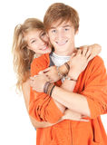 Handcuffed teenagers couple Stock Photography