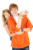 Handcuffed teenagers couple Royalty Free Stock Photography
