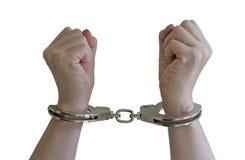 Handcuffs. Locked Stock Image