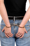 In handcuffs Royalty Free Stock Photo