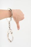 In handcuffs Royalty Free Stock Images