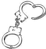 Handcuffs. Vector illustration of handcuffs. Easily to close in vector Royalty Free Stock Photo