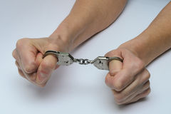 Handcuffs1 Foto de archivo