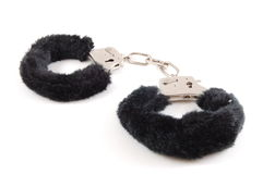 Handcuffs. Simple Handcuff isolated on a white background Royalty Free Stock Image