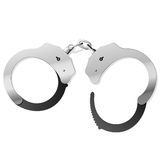 Handcuffs. Vector illustration of handcuffs. Easily to close in vector Royalty Free Stock Photography