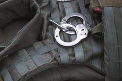 handcuffs Fotografie Stock