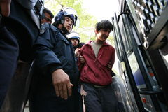 Handcuffs Activist Royalty-vrije Stock Afbeeldingen