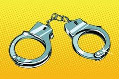 Handcuffs arrestatiemisdaad royalty-vrije illustratie