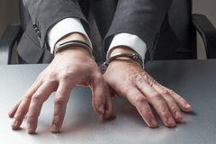 Handcuffs for businessman Royalty Free Stock Photos