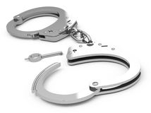 The handcuffs Stock Photography