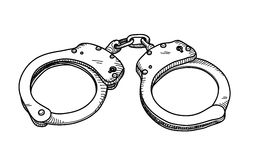 Handcuffs Doodle Stock Photography