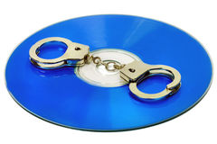 Handcuffs in DVD Stock Photo