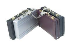 Handcuffs en Aktentassen Royalty-vrije Stock Afbeeldingen