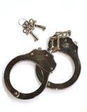 Handcuffs en sleutels Stock Foto
