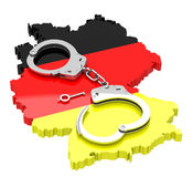Handcuffs on germany Royalty Free Stock Images