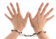 In Handcuffs Royalty Free Stock Photography