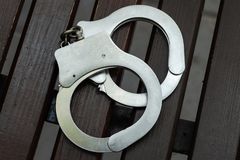 handcuffs Handhaving en straf royalty-vrije stock fotografie