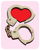Handcuffs_heart Royalty-vrije Stock Foto