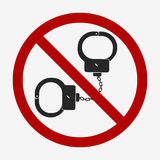 Handcuffs icon  Stock Photo