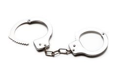 Handcuffs isolated Royalty Free Stock Image