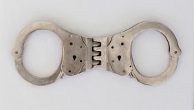 Handcuffs isolated Royalty Free Stock Photo