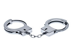 Handcuffs isolated on white Stock Images