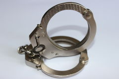 Handcuffs with key Royalty Free Stock Photography