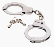 Handcuffs with Keys Stock Image