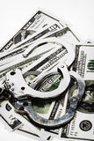 Handcuffs and  money Royalty Free Stock Images