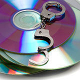 Handcuffs in pile CD Stock Photos