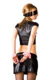handcuffs pink woman young Στοκ Φωτογραφίες