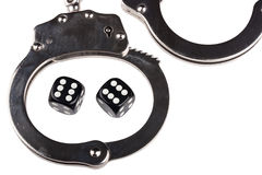 Handcuffs with things gaming Stock Photography