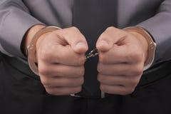 Handcuffs van de arrestatie stock foto