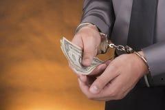 Handcuffs van de arrestatie stock fotografie