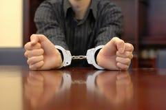 Handcuffs van de foto Royalty-vrije Stock Afbeeldingen