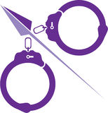 Handcuffs vector Royalty Free Stock Photo