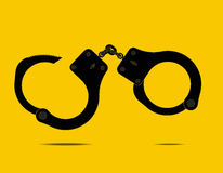 Handcuffs - Vector illustration. Handcuffs. Open handcuffs with a key. Vector illustration, you can easily change the color and size Royalty Free Stock Photos