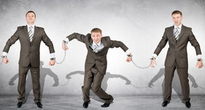 Handcuffs, white collar crime, arrest. Stock Photography