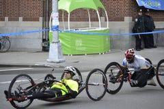 Handcycles-New-York-City-Marathon 2014 Stockfotografie