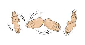 Handdans Dans acht handen stock illustratie